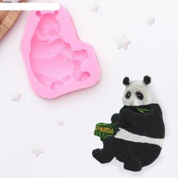 Молд силиконовый 7,7х6х1,5 см панда