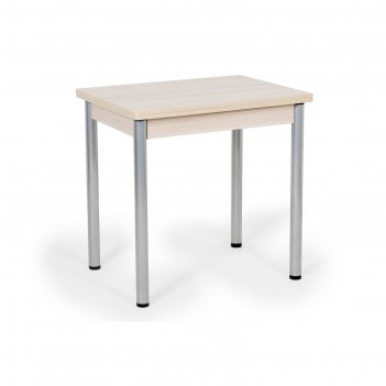 Стол ирис поворотно-раскладной (ножки окрас серебро), 1200x600x750, ясень