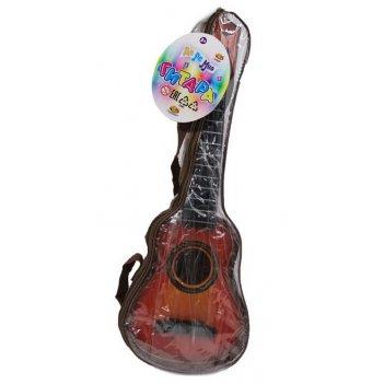 Гитара коричневая в чехле