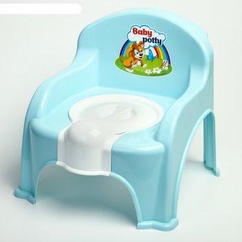 Горшок-стульчик с крышкой, цвет синий