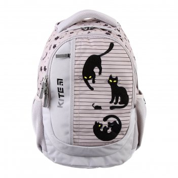 Рюкзак школьный с эргономичной спинкой kite 855, 40 х 30 х 17.5, серый