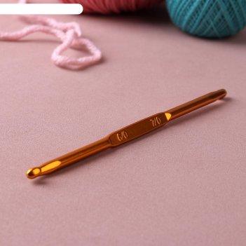 Крючок для вязания, двухсторонний, d = 6/7 мм, 13 см, цвет золотой