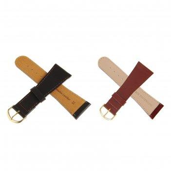 Ремень кожаный, присоед. р-р 28 мм, коричневый