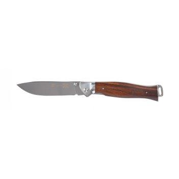 Нож складной stinger, 106 мм (серебристый), рукоять: сталь/дерево (серебр.