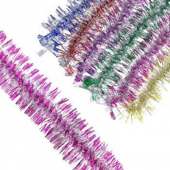 Мишура фонарик d-9 см 2 м цвет микс