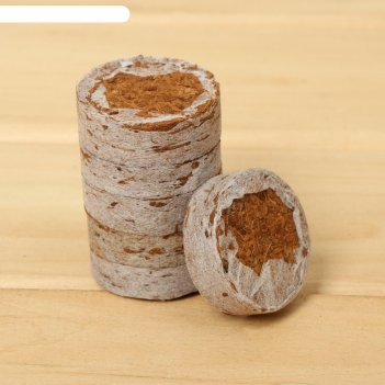 Таблетки кокосовые  d=40 мм в оболочке, (набор 6 шт), greengo