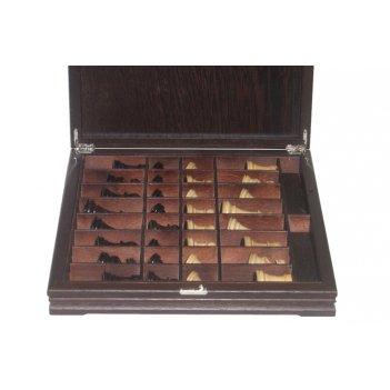 Шахматы классические средние деревянные утяжеленные (король 3,25) 36х36см