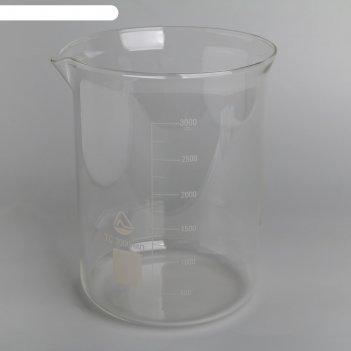 Стакан мерный н-1-3000мл   тс (со шкалой) гост 25336-82