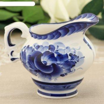 Молочник «цветок», 12x10x10 см, гжель