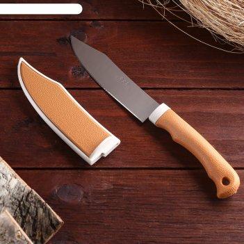 Сувенирный нож нескладной, в ножнах, рукоять под дерево