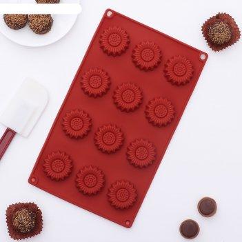 Форма для льда и шоколада радужка, 12 ячеек