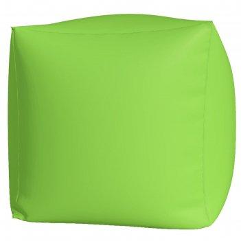 Пуфик куб макси, ткань нейлон, цвет салатовый