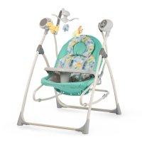Колыбель-качели детские 3 в 1 carrello nanny crl-0005 turquoise scribble