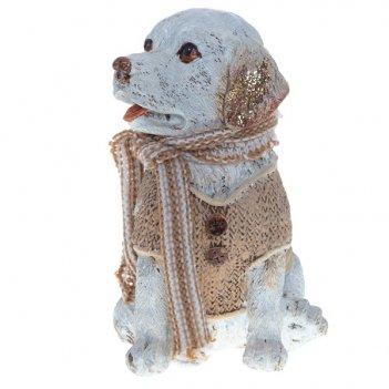 Фигурка декоративная собака 10х9,5х14,5