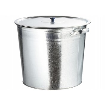 Бак для воды оцинкованный с крышкой (крышка с ручкой) 20л, без крана росси