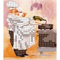 """""""магнит повар 1"""" рисунок для вышивания бисером"""