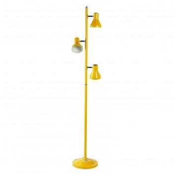 Торшер напольный ванесса желтый 3x60w e27 30х30х160 см