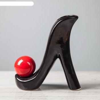Ваза туфелька, чёрный цвет, 22 см