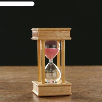 Часы песочные на 5 минут эссаурия,  6х11.5 см, под дерево