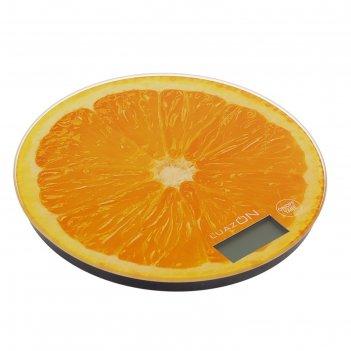 Весы кухонные luazon lvk-701, электронные, до 7 кг, рисунок апельсин