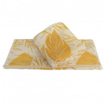 Полотенце autumn, размер 50 x 90 см, жёлтый