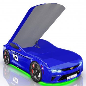 Кровать romack energy-m, 1900 x 800 мм, подсветка дна и фар, цвет синий