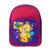 Рюкзак детский, отдел на молнии, наружный карман, цвет сиреневый/розовый