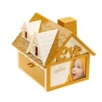 Шкатулка-копилка музыкальная механическая кукольный дом, микс