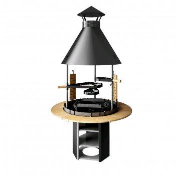 Гриль grillux suomi premium black, 134х134х234.4 см, толщина стали:0,8 мм/