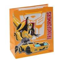 Пакет подарочный трансформеры 18х21 см, hasbro transformers