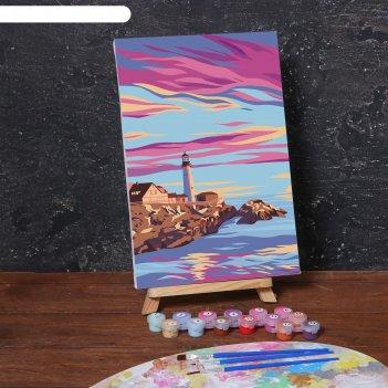 Картина по номерам на холсте с подрамником «маяк» 20х30 см