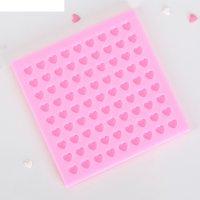 Молд 11х0,7 см сердца. конфетти, розовый