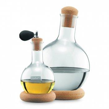 Набор декантеров для водки и мартини, 2 штуки, материал: стекло, пробка, р