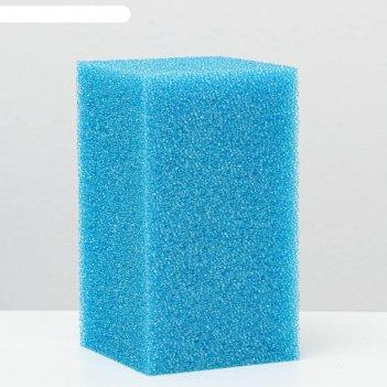 Губка прямоугольная для фильтра, синяя №14, 11х11х20 см