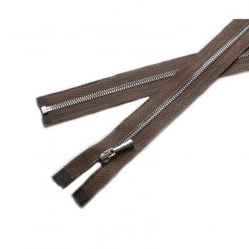 Молния для одежды, разъёмная, №1, 50 см, цвет ореховый