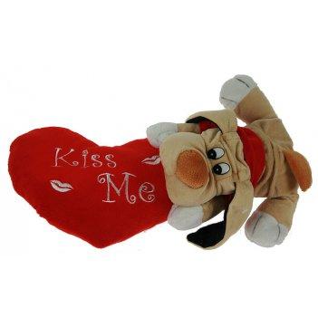 Игрушка мягкая-сувенир валентинка 25*23см
