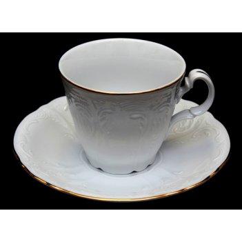 Набор для чая бернадот белый на 6перс.12пред. высокие