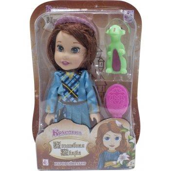 1toy красотка кукла волшебная сказка15 см с пвх дракончиком 5см,шляпкой, р