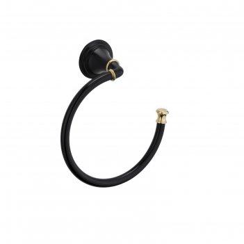 Полотенцедержатель fixsen fx-71611b, полукольцо, цвет чёрный