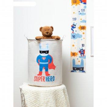Корзинка текстильная этель super hero 34х43 см, водонепроницаемая