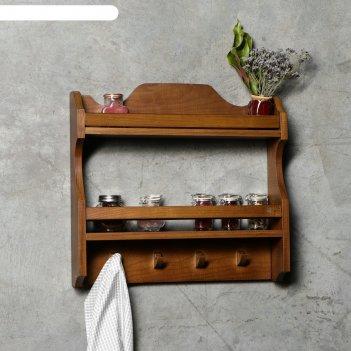 Полка кухонная из массива дуба 45х45х10 см