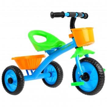 Велосипед трёхколёсный micio antic 2019, цвет синий/жёлтый/зелёный