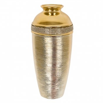 Ваза декоративная gold day h=29см. (с декоративными стразами) (транспортна