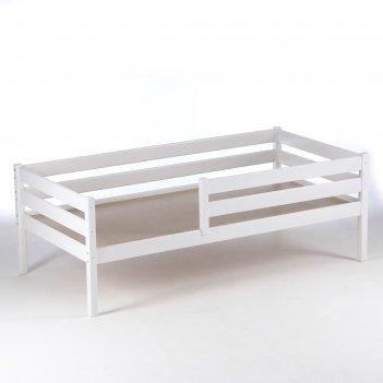 Кровать сева, спальное место 1600х800, цвет белый, массив