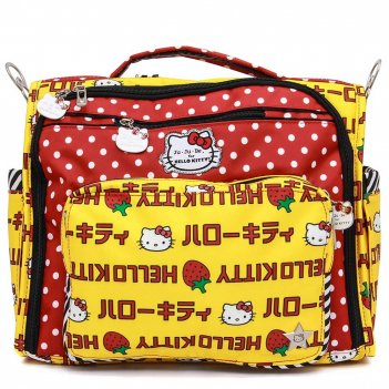 Сумка рюкзак для мамы ju-ju-be b.f.f. hello kitty strawberry stripes