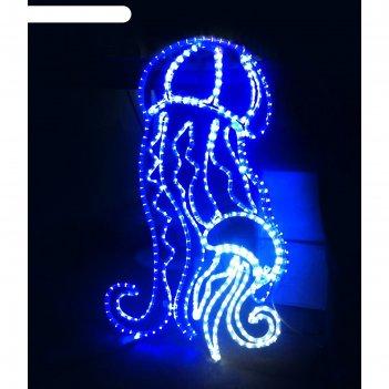 Светодиодное панно медузы, 1.5 х 0.86 м, led-шнур 18 м, 50 вт, металлическ