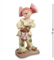 Cms-23/32 фигурка клоунесса с барабаном (pavone)