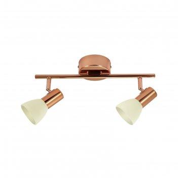 Светильник glossy 2x5вт led медь 36x10см