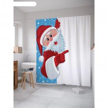 Фотоштора для ванной magic lady, 180х200 см., 100% полиэстер