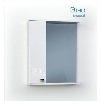 Шкаф-зеркало этно (с подсветкой ) левый 60
